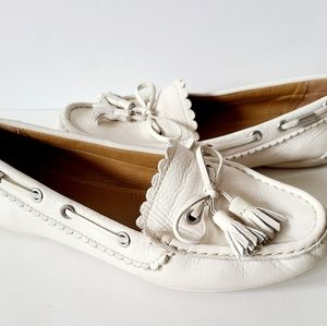 Coach Leather White Loafers Size 8